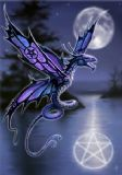 Anne Stokes- Dragonfly fantasy card